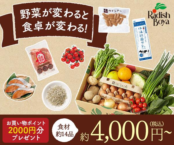 食材宅配サービス【らでぃっしゅぼーや】申込モニター