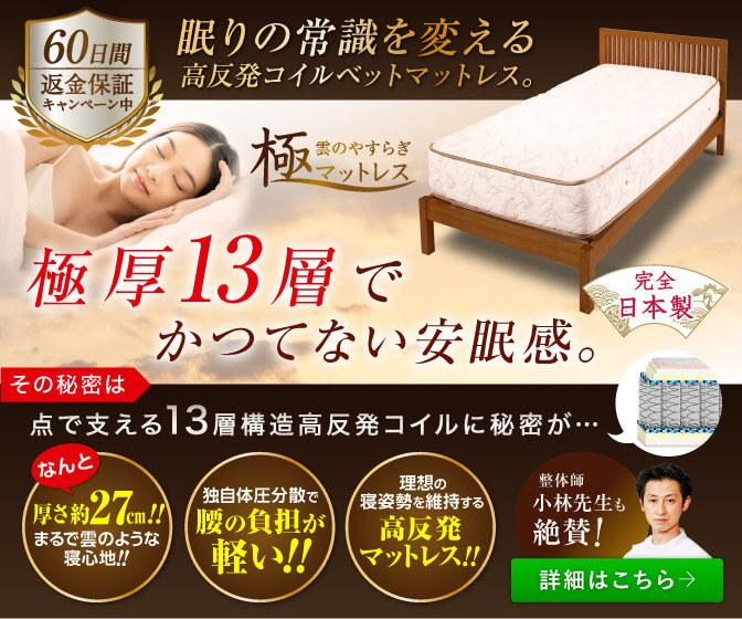 極厚27cmマットレス、高反発、日本製-マットレスで厚さが最高!