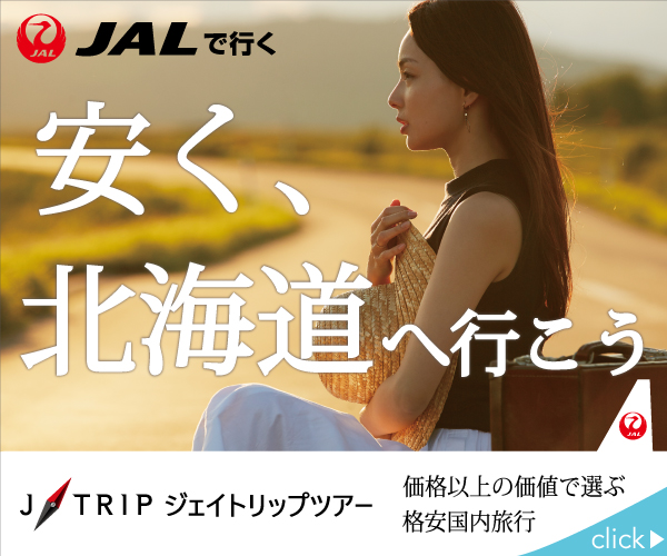 JAL利用!フライトは北海道道内6空港(新千歳・函館・旭川・とかち帯広・釧路・女満別空港)からご選択